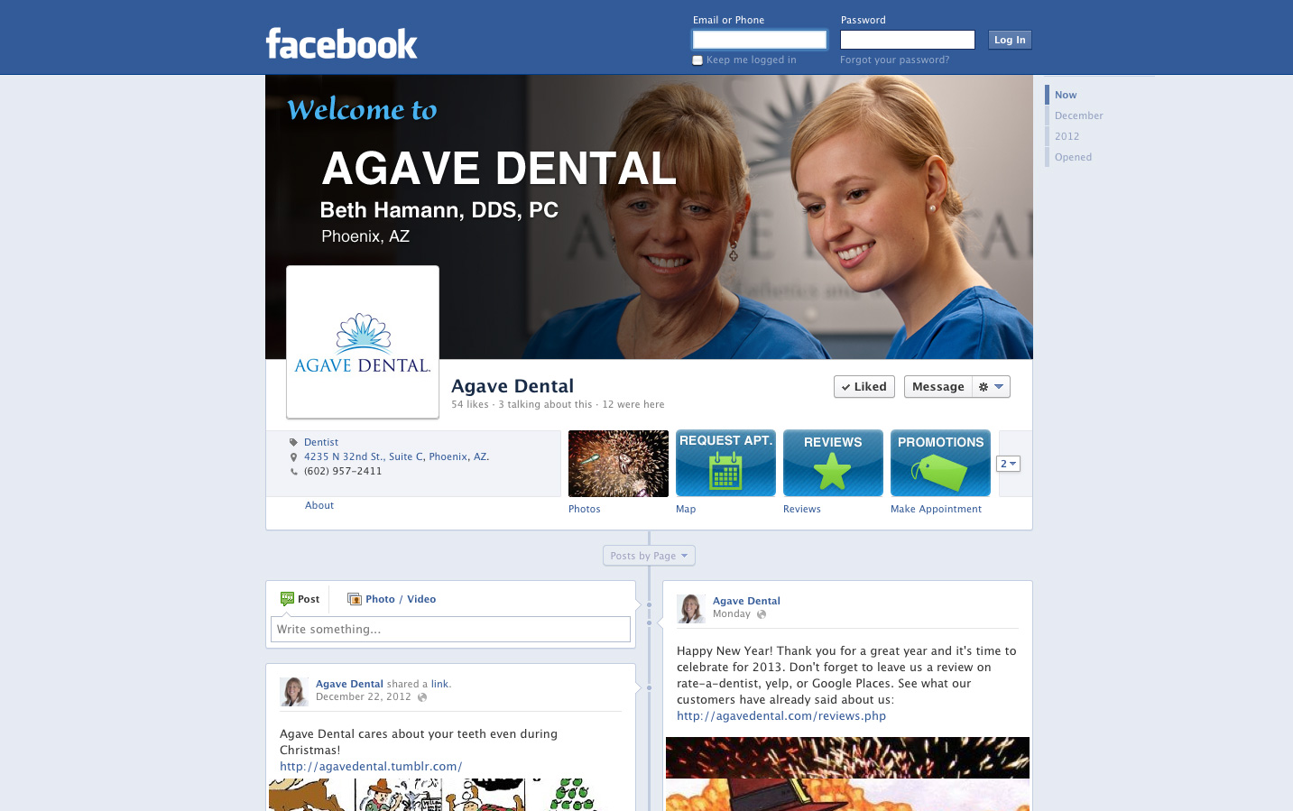 Agave Dental Facebook