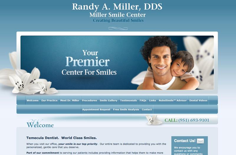Practice Website Example - https://www.practicemojo.com/attachments/dental-website-2.jpg